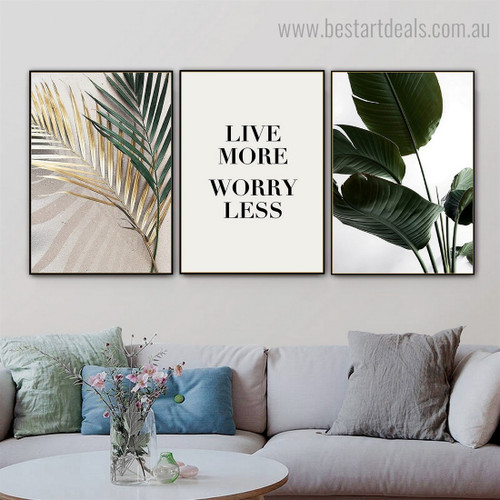 Live Botanical Contemporary Framed Artwork Portrait Canvas Print for Room Wall Assortment