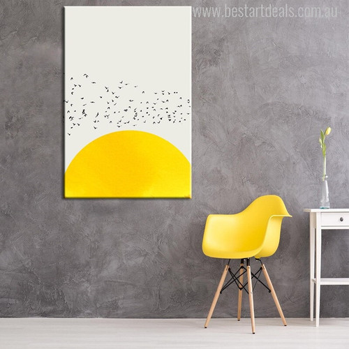Thousand Birds Nordic Painting Canvas Print for Lounge Decor