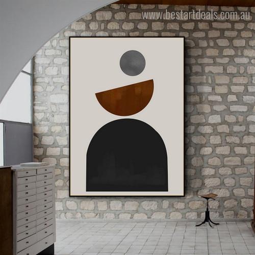 Circular Design Abstract Modern Framed Artwork Pic Canvas Print for Room Wall Onlay
