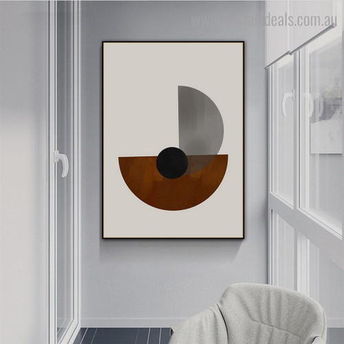Black Spherical Abstract Modern Framed Artwork Picture Canvas Print for Room Wall Assortment