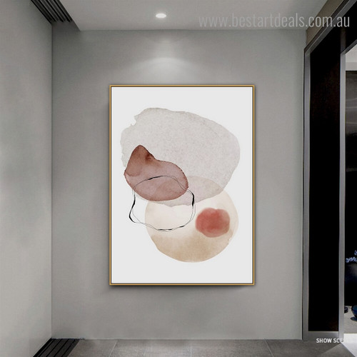 Blots Abstract Modern Framed Painting Pic Canvas Print for Room Wall Decoration