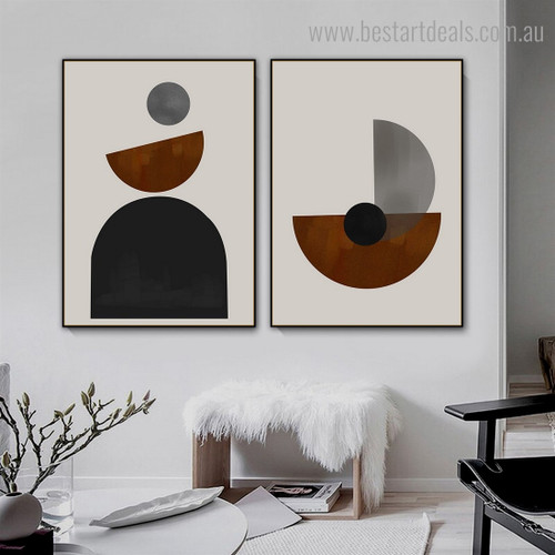 Colorful Spheric Abstract Modern Framed Artwork Image Canvas Print for Room Wall Decoration