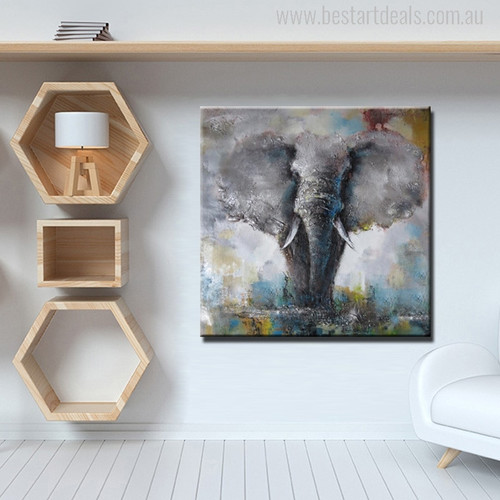 Elephant Abstract Modern Wall Art Print for Wall Decor