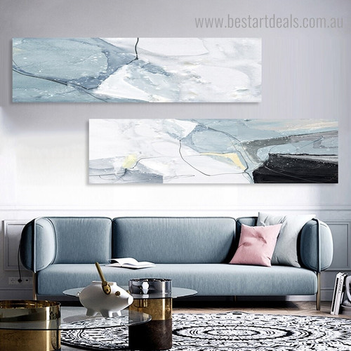 Twisty Traits Abstract Nordic Painting Photo Canvas Print for Room Wall Finery