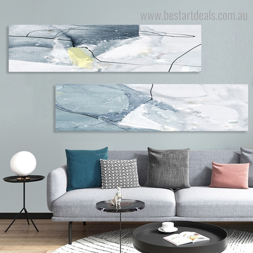 Convoluted Trails Abstract Nordic Painting Pic Canvas Print for Room Wall Flourish