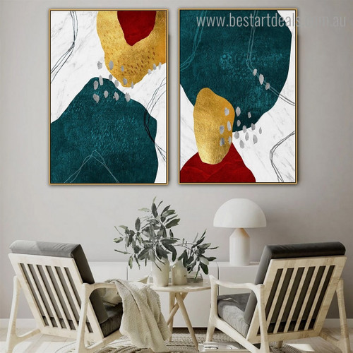 Winding Streaks Abstract Modern Framed Artwork Pic Canvas Print for Room Wall Disposition