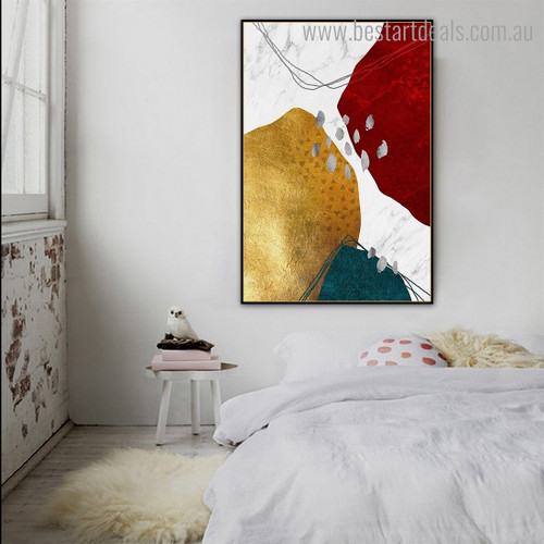 Roundabout Trails Abstract Modern Framed Artwork Image Canvas Print for Room Wall Decor