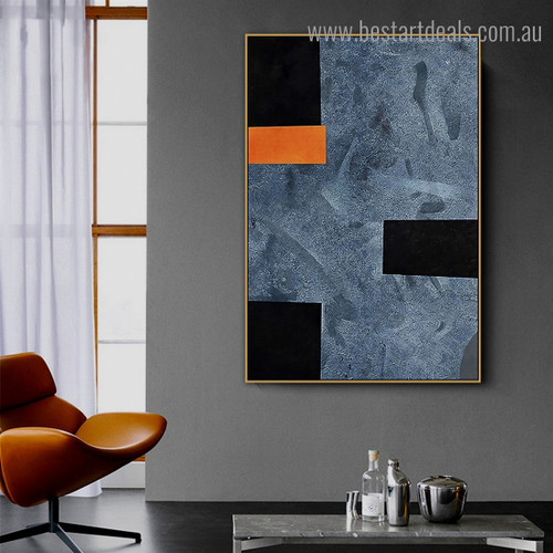 Rectangular Square Abstract Modern Framed Artwork Photo Canvas Print for Room Wall Decor