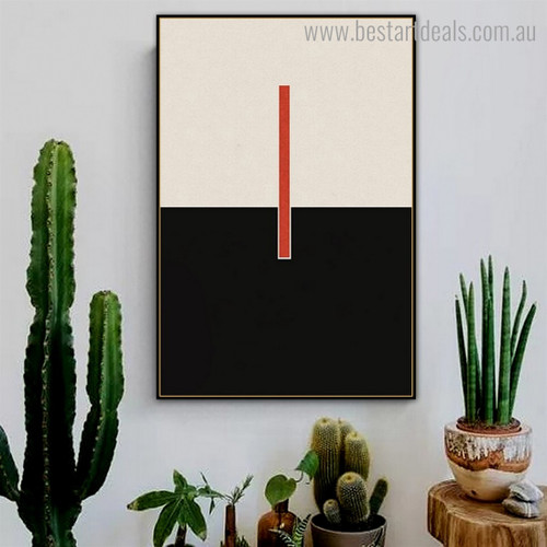Red Bold Line Abstract Modern Framed Artwork Photograph Canvas Print for Room Wall Assortment