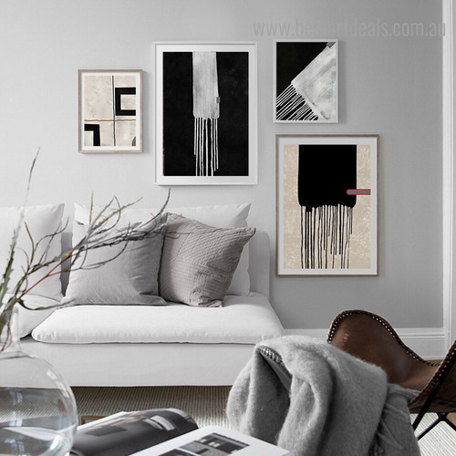 Dribblet Abstract Contemporary Framed Painting Image Canvas Print for Room Wall Onlay