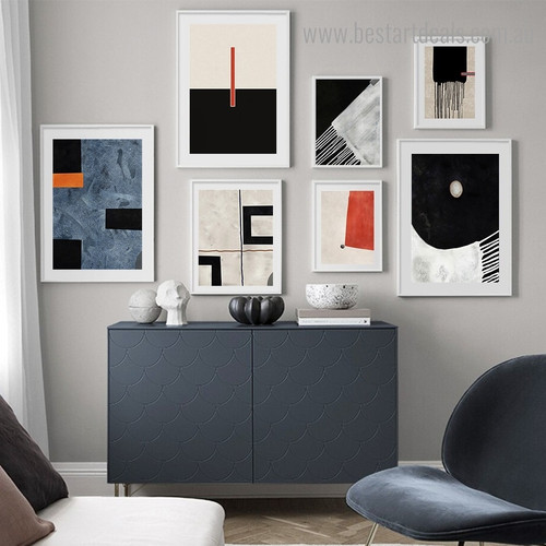 Scansion Abstract Contemporary Framed Painting Image Canvas Print for Room Wall Decor