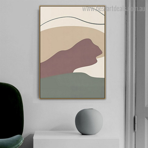 Circuitous Wrinkle Abstract Scandinavian Framed Painting Image Canvas Print for Room Wall Ornament