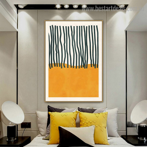 Tracks Abstract Scandinavian Framed Painting Pic Canvas Print for Room Wall Outfit