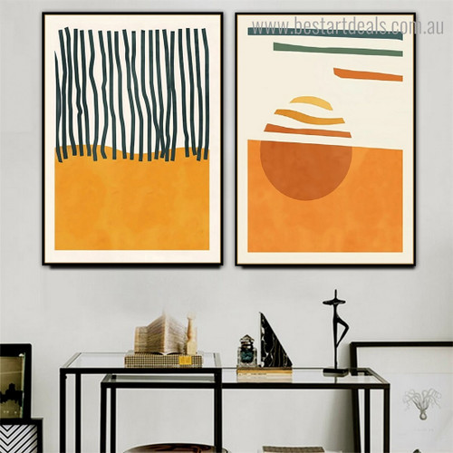 Devious Abstract Scandinavian Framed Artwork Image Canvas Print for Room Wall Disposition