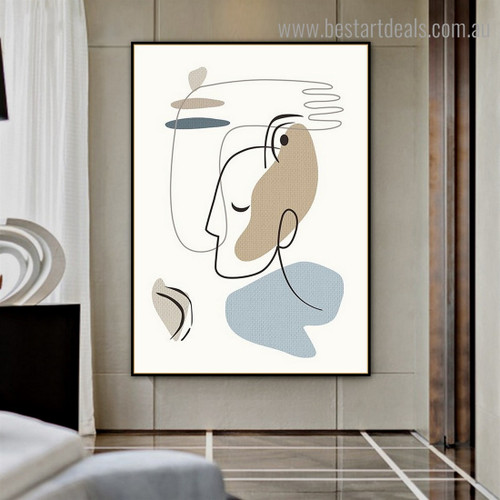 Complexion Abstract Modern Framed Painting Photo Canvas Print for Room Wall Finery
