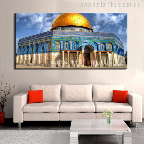 The Dome of the Rock Islamic Modern Picture Canvas Print