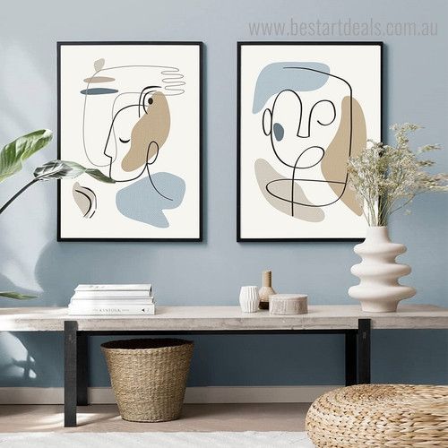 Obverse Abstract Modern Framed Artwork Photograph Canvas Print for Room Wall Moulding
