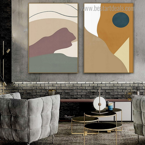 Patches Abstract Scandinavian Framed Artwork Pic Canvas Print for Room Wall Decoration