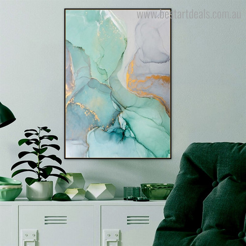 Chatoyant Abstract Contemporary Framed Portrayal Image Canvas Print for Room Wall Drape