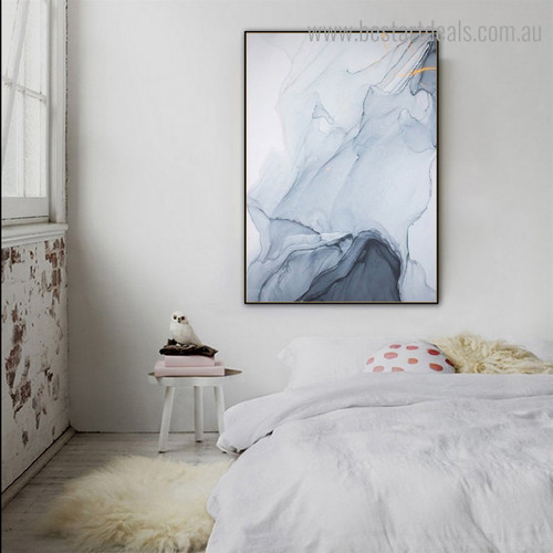 Grey Marble Abstract Contemporary Framed Artwork Pic Canvas Print for Room Wall Decor