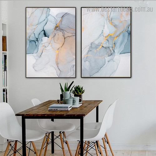Shiny Abstract Contemporary Framed Artwork Picture Canvas Print for Room Wall Decor