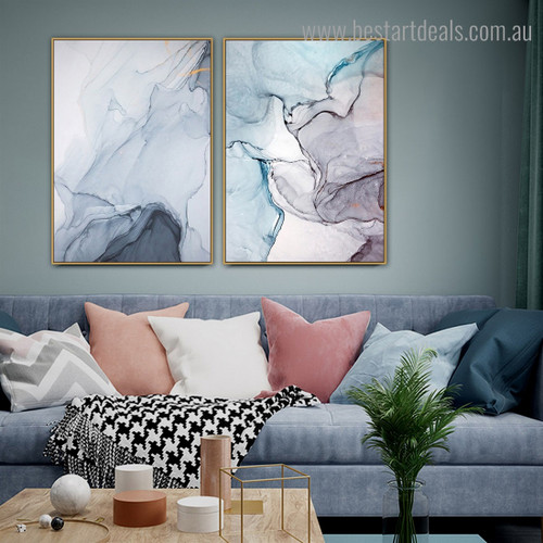 Sleeky Abstract Contemporary Framed Artwork Photo Canvas Print for Room Wall Ornament