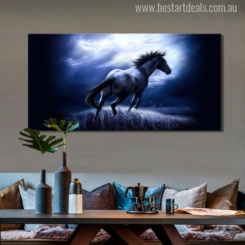 Dashing Horse Modern Animal Photo Print