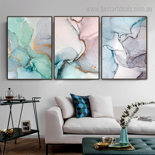 Seams Abstract Contemporary Framed Artwork Photo Canvas Print for Room Wall Drape
