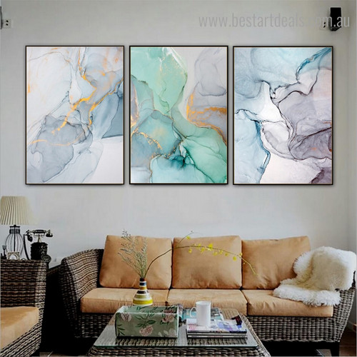 Sparkling Slurs Abstract Contemporary Framed Artwork Photo Canvas Print for Room Wall Trimming