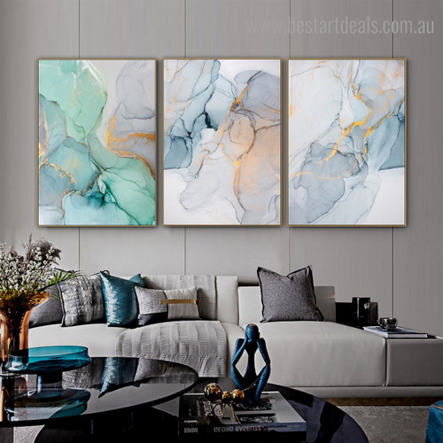 Lambent Abstract Contemporary Framed Artwork Photo Canvas Print for Room Wall Embellishment
