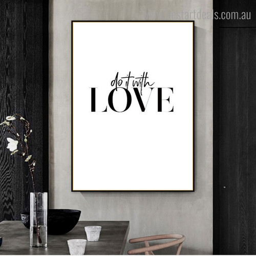 Do It Quote Contemporary Framed Artwork Photograph Canvas Print for Room Wall Drape