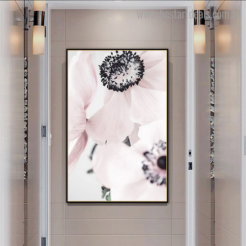 Anemone Floral Contemporary Framed Painting Photograph Canvas Print for Room Wall Outfit