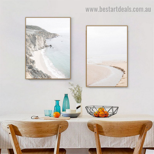 Skerry Selvage  Landscape Retro Framed Painting Image Canvas Print for Room Wall Tidy Up