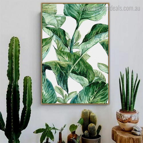 Jungle Leafage Botanical Minimalist Nordic Framed Artwork Image Canvas Print for Room Wall Disposition