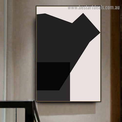 Blackness Abstract Modern Framed Painting Image Canvas Print for Room Wall Dizen