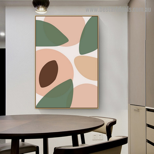 Sunkissed Peaches Abstract Modern Framed Painting Picture Canvas Print for Room Wall Formalize