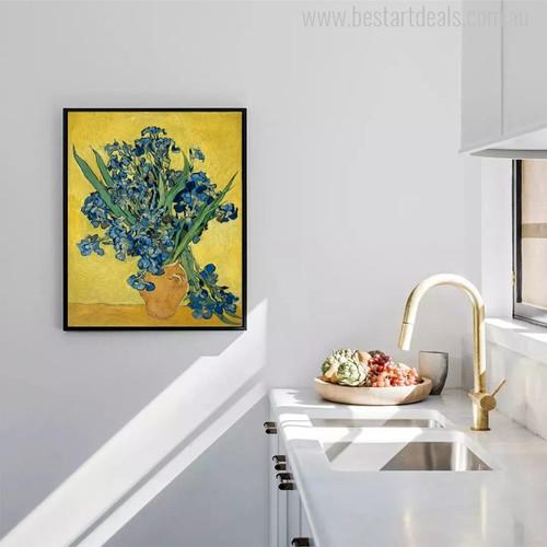 Irises Posy Impressionist Painter Van Gogh Painting Canvas Print