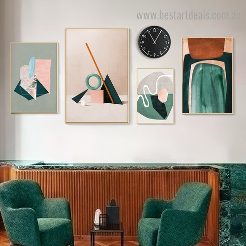 Blurs Abstract Nordic Contemporary Framed Portrayal Photo Canvas Print for Room Wall Adornment