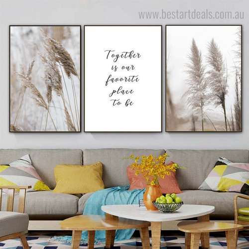 Favorite Place Quote Contemporary Framed Artwork Picture Canvas Print for Room Wall Getup