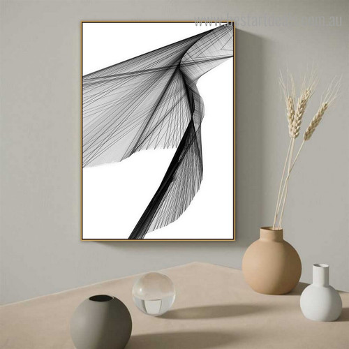 Line Texture Abstract Modern Framed Painting Photograph Canvas Print for Room Wall Adornment