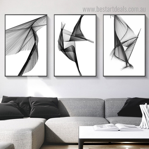 Resection Pattern Abstract Modern Framed Painting Pic Canvas Print for Room Wall Decor
