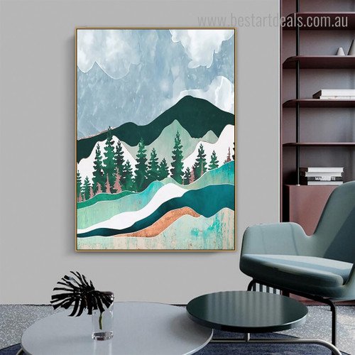 Won Landscape Nature Contemporary Framed Artwork Image Canvas Print for Room Wall Disposition