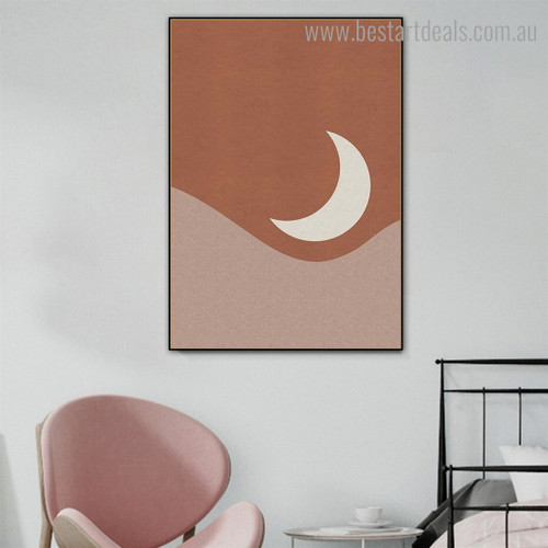 Semi Phoebe Abstract Landscape Scandinavian Framed Painting Pic Canvas Print for Room Wall Onlay