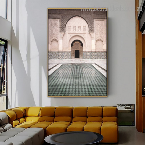 Ben Youssef Architecture Modern Framed Painting Image Canvas Print for Room Wall Assortment