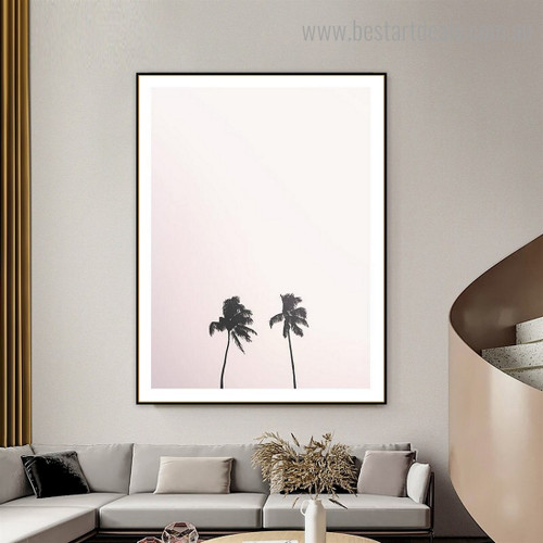 Asian Palmyra Palm Botanical Contemporary Framed Painting Pic Canvas Print for Room Wall Decoration