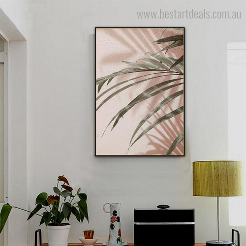 Palm Foliage Botanical Contemporary Framed Painting Pic Canvas Print for Room Wall Getup