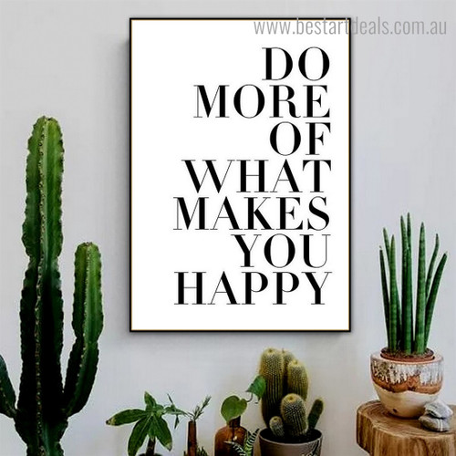 Do More Quote Contemporary Framed Painting Image Canvas Print for Room Wall Ornament