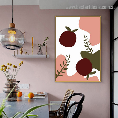 Pippin Fruit Abstract Food and Beverage Modern Framed Painting Photo Canvas Print for Room Wall Molding
