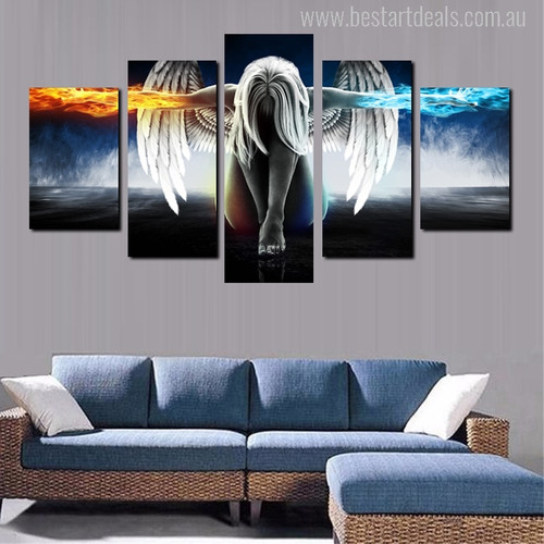 Anime Angel Girl Painting Print for Wall Decor