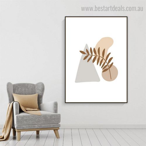 Scars Abstract Scandinavian Framed Painting Picture Canvas Print for Room Wall Moulding